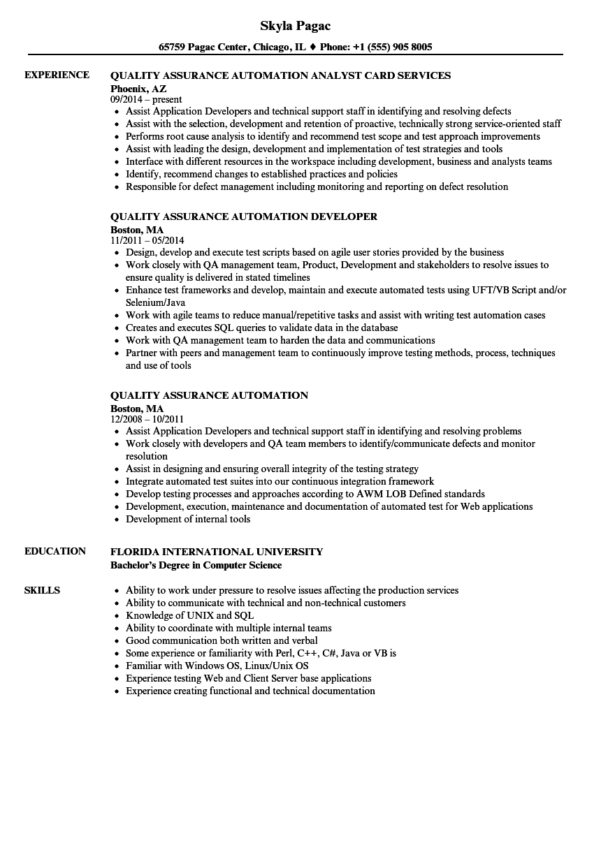 python software automation resume samples