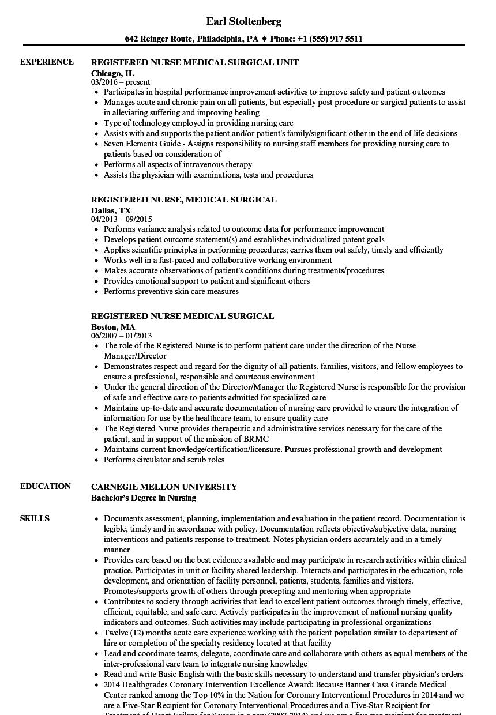 general ward nurse resume sample
