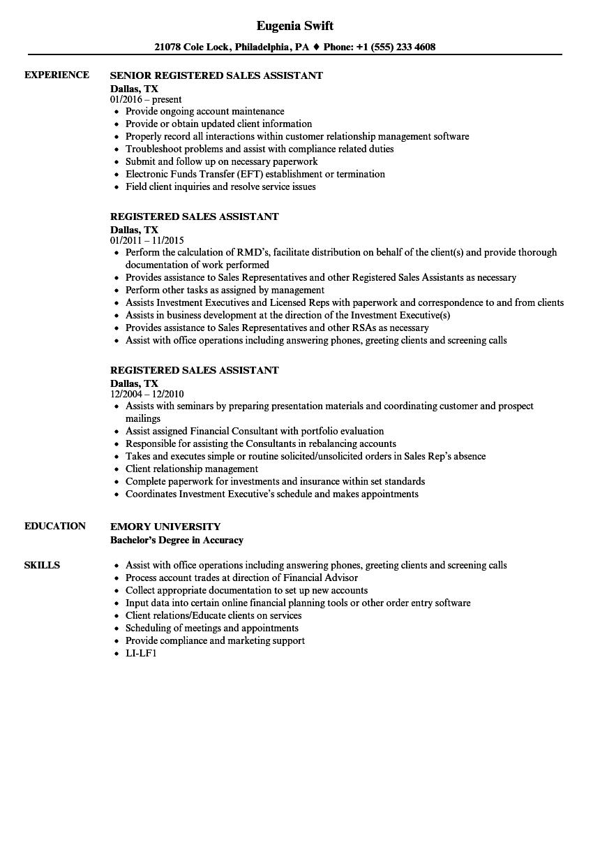 Financial Advisor Assistant Resume  vvengelbertnl