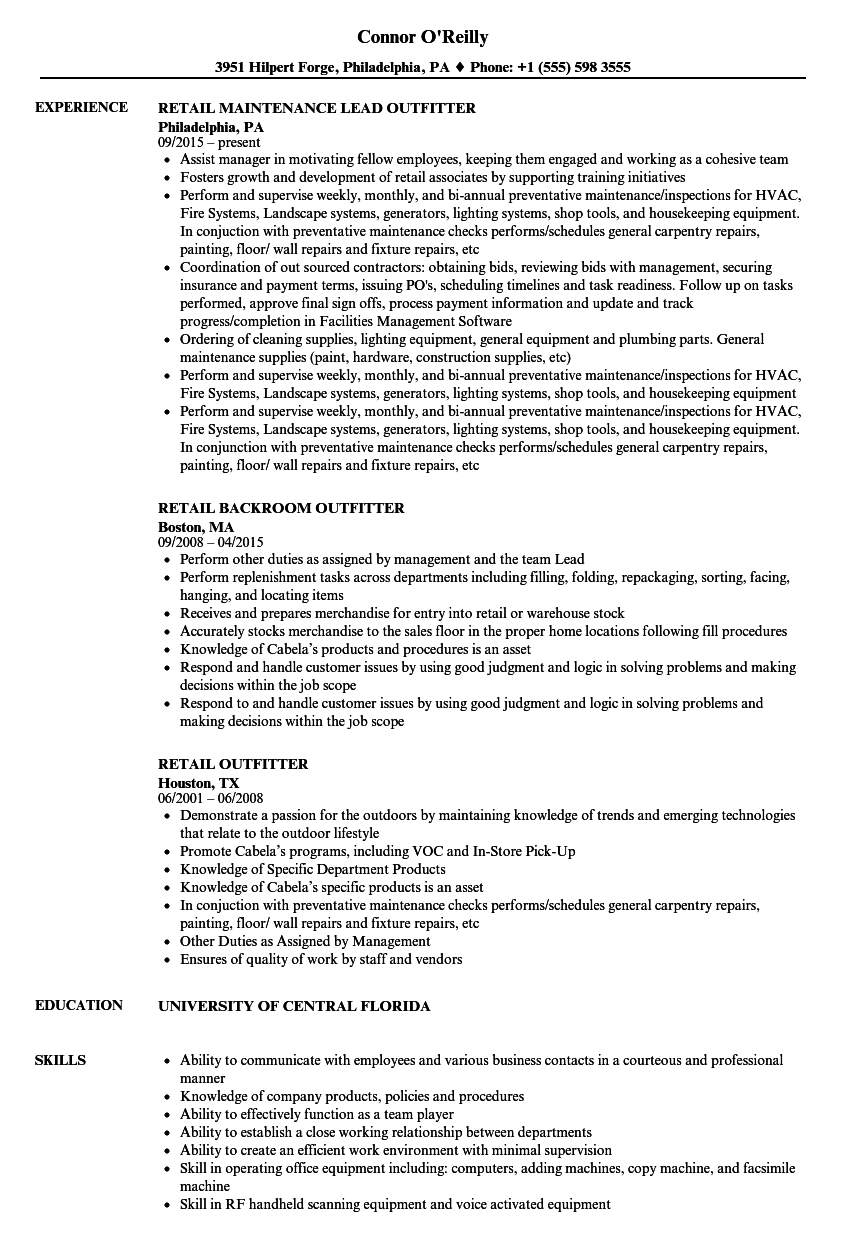 Financial Services Resume Samples