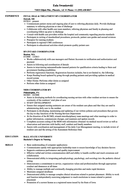 hospital rn resume sample