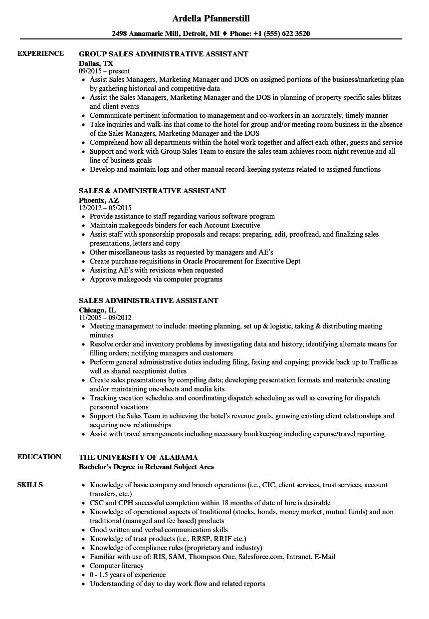 Examples Of Executive Resumes Sample Resumes …