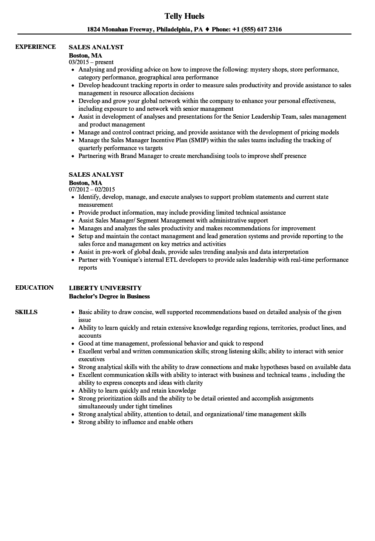 sales analyst resume samples velvet jobs examples of resumes