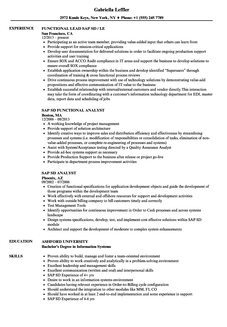 hight resolution of download sap sd resume sample as image file