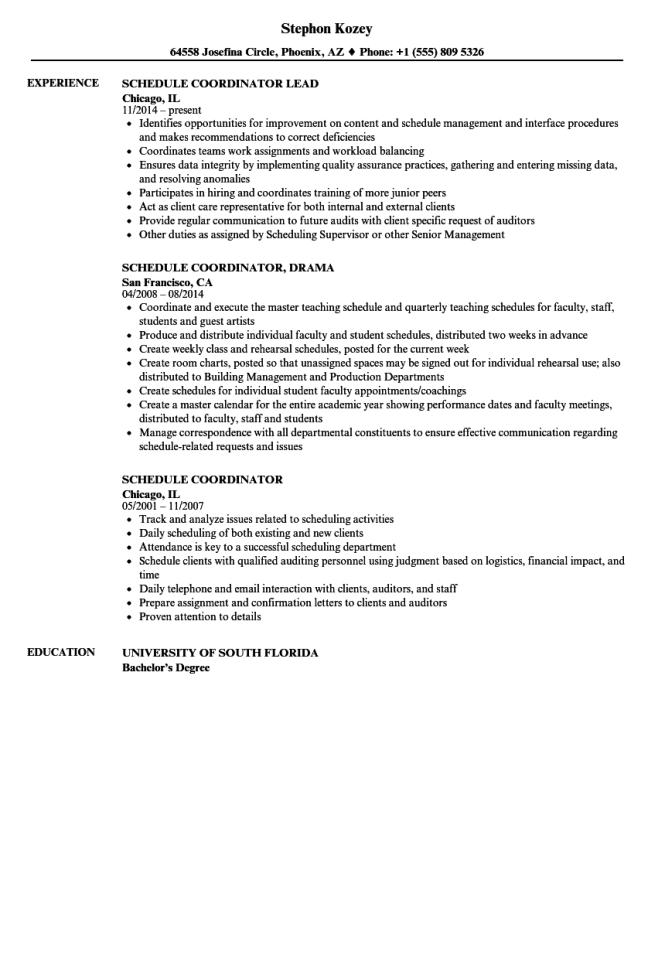 staffing coordinator resume  resume sample