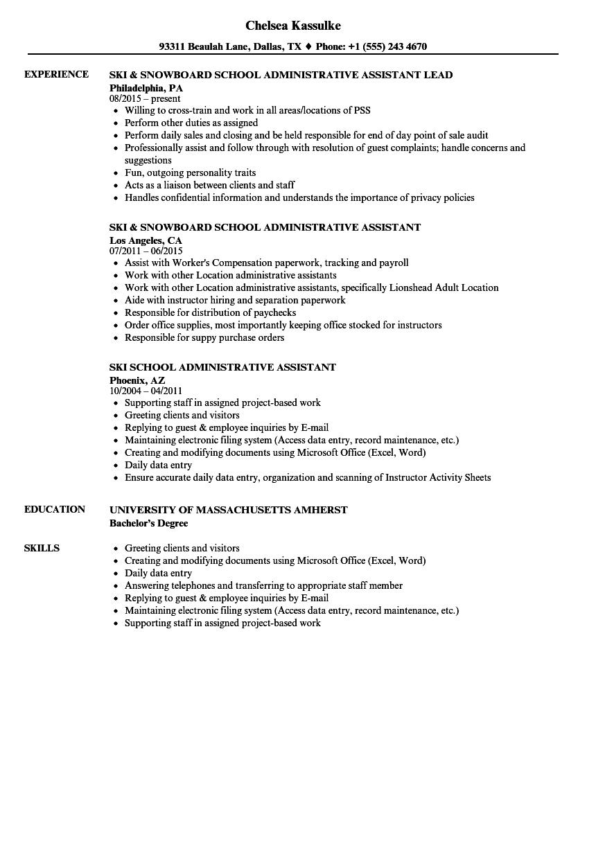 School Administrative Assistant Resume Samples  Velvet Jobs