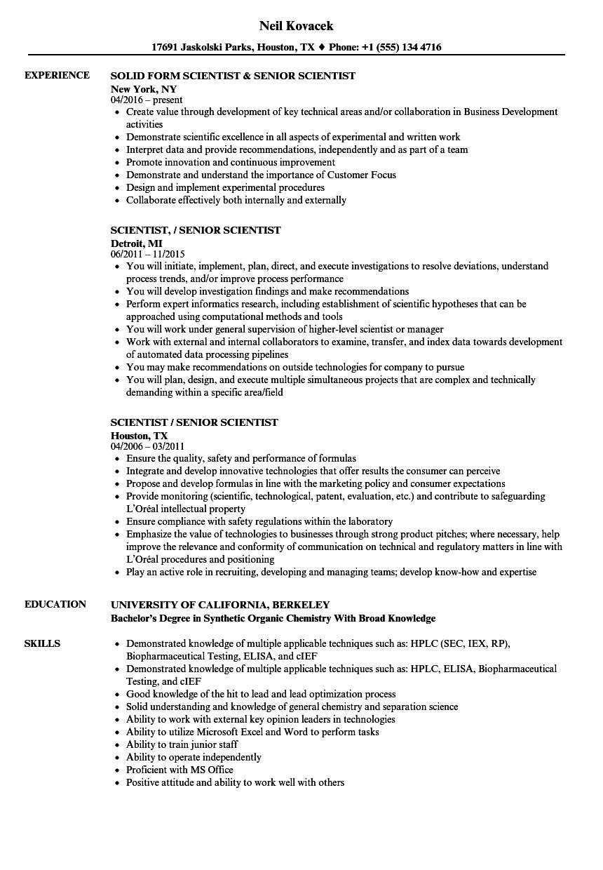 senior data scientist resume sample