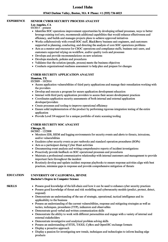 security job resume sample