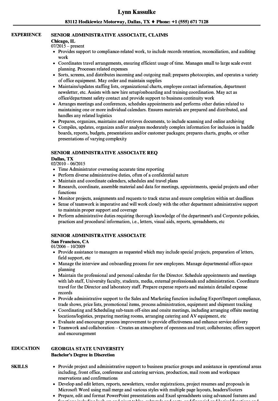 program associate resume sample