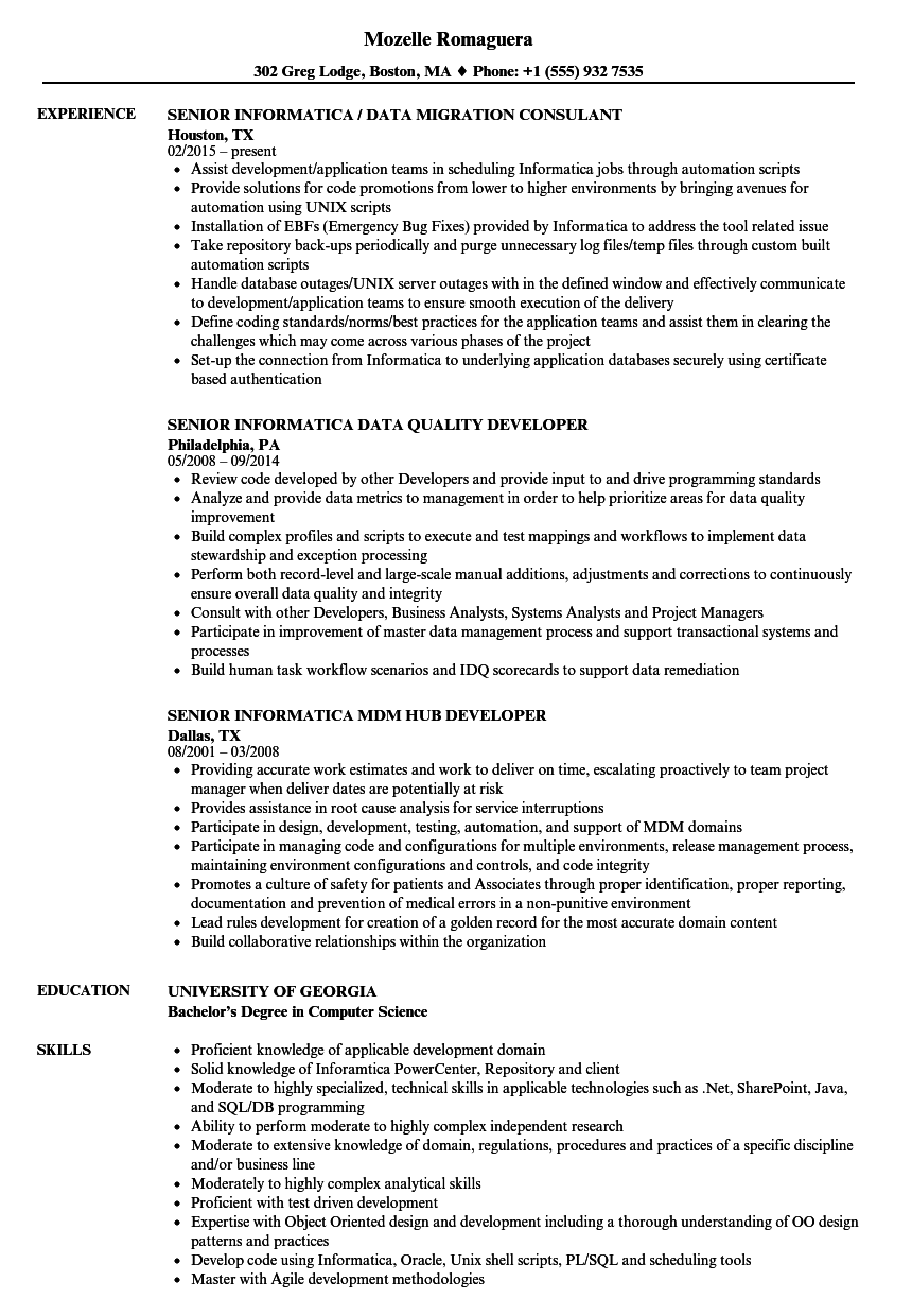 sample resume of application support