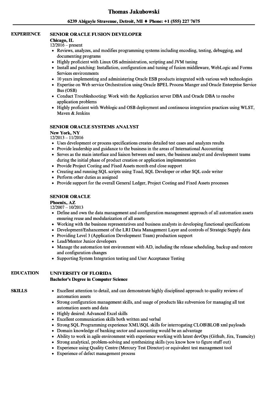 oam sample resumes