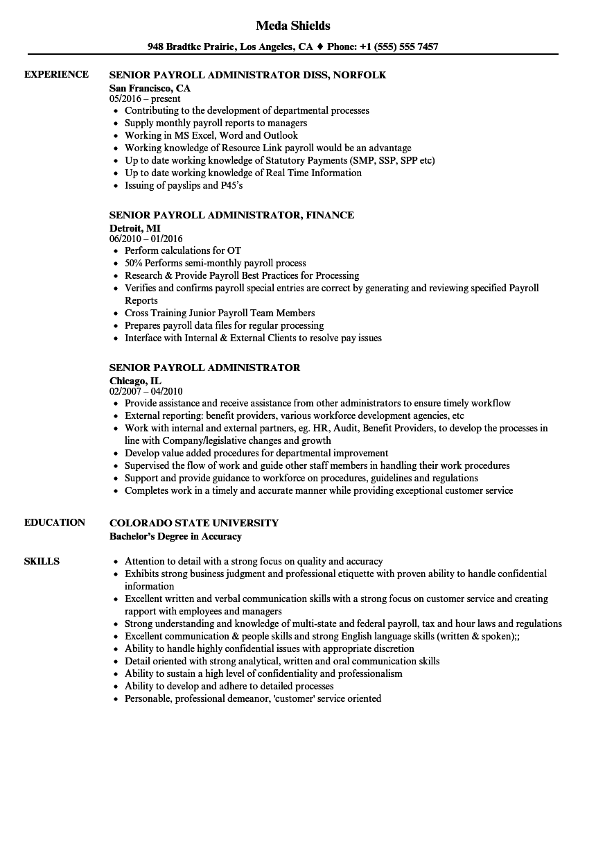 98 Payroll Manager Resume Sample Payroll Manager Resume