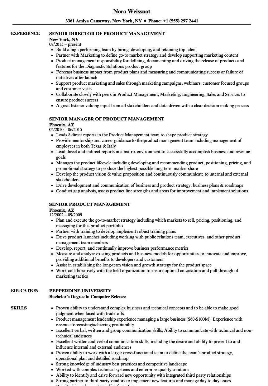 technical product management resume samples free fax cover letter