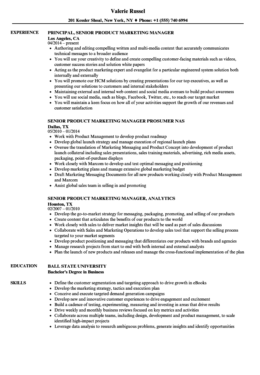 Senior Advertising Manager Cover Letter