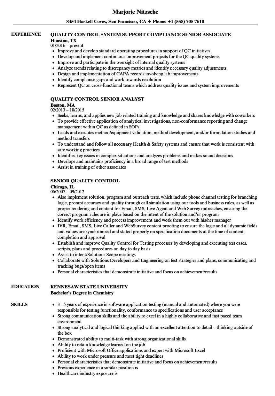 Gallery of Resume Chemist ~ Senior Chemist Resume Sample