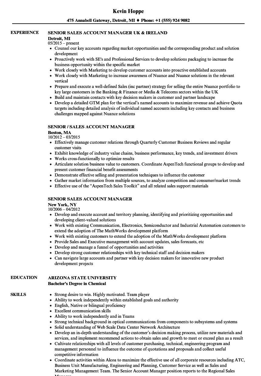 Account Manager Resume ] | Account Manager Resume, Account Manager ...