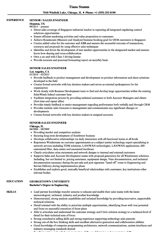 telecom pre sales resume sample