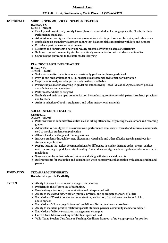 sample resume texas