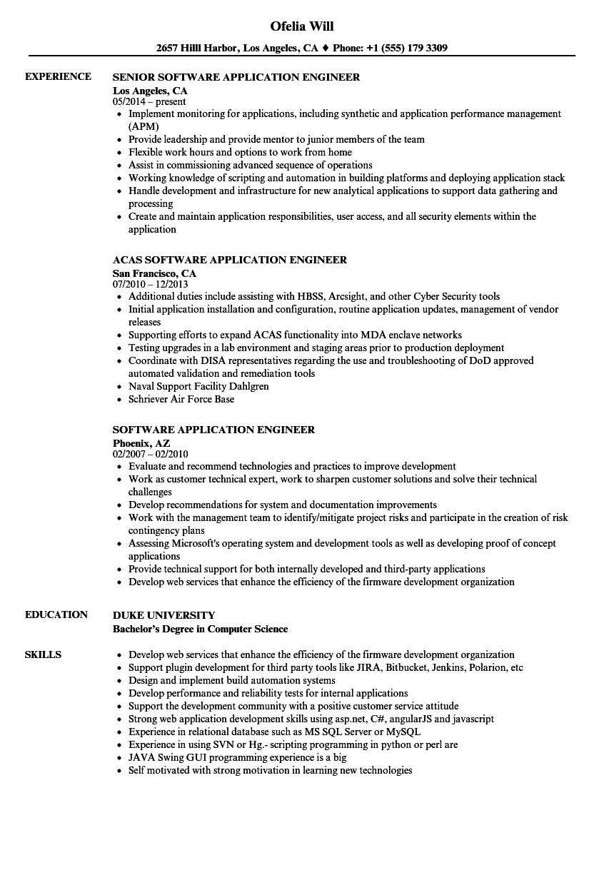 control systems engineer sample resume