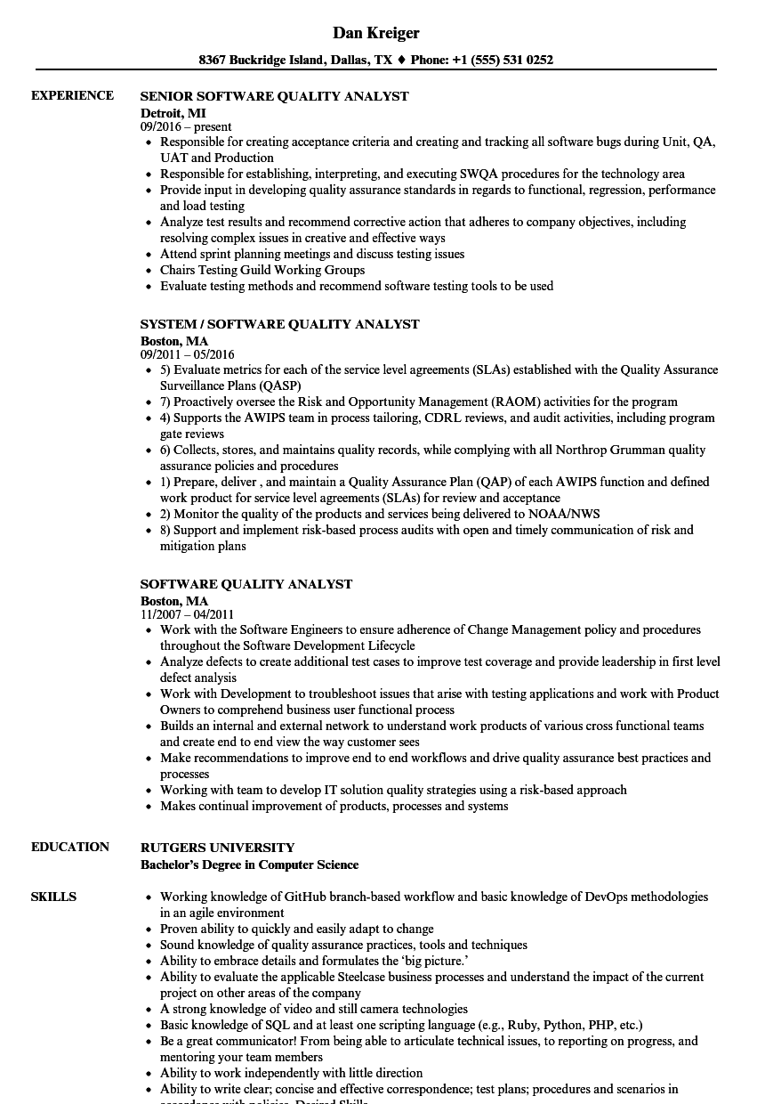 resume sample for working experience
