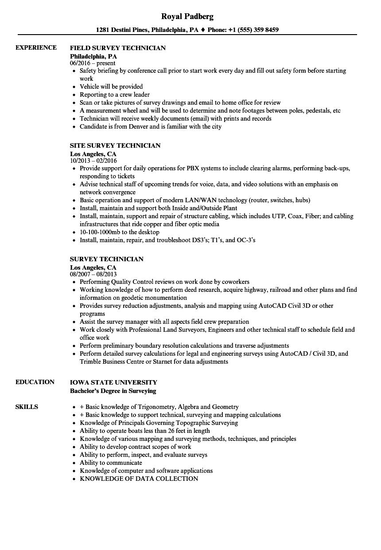 sample technician resumes
