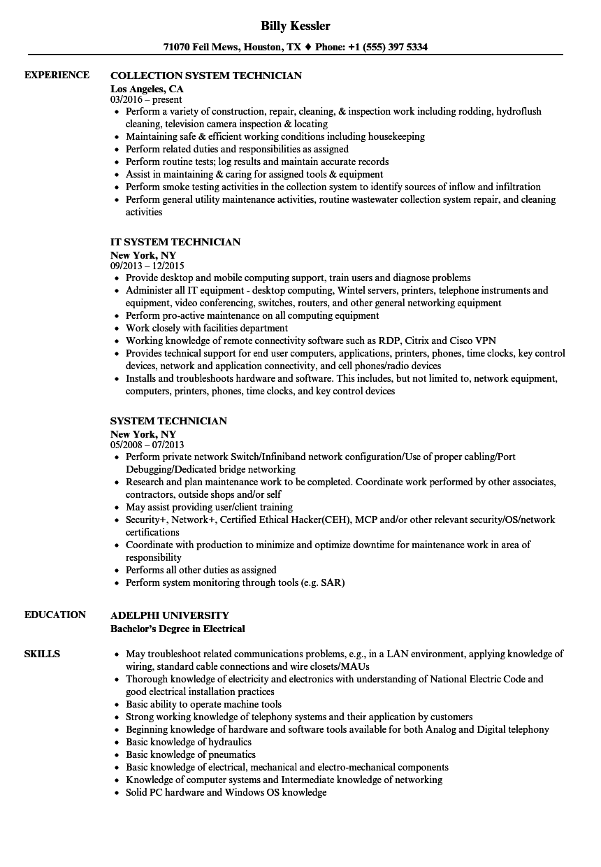 resume software applications