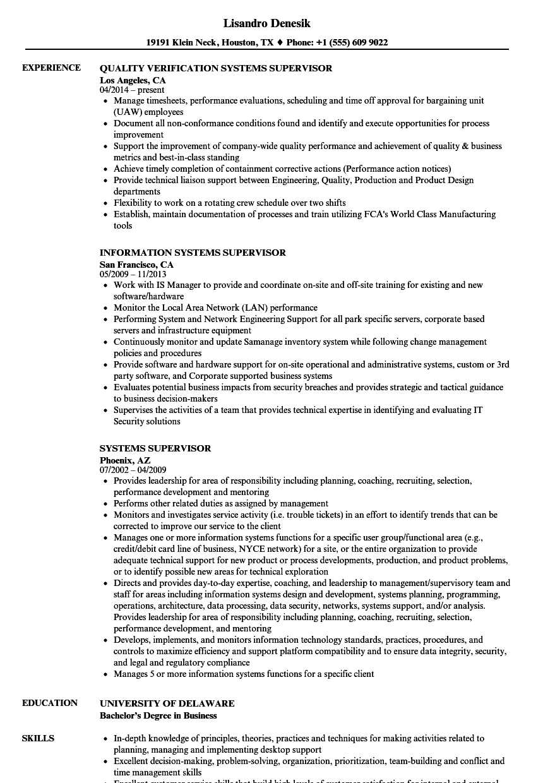 production supervisor functional resume sample