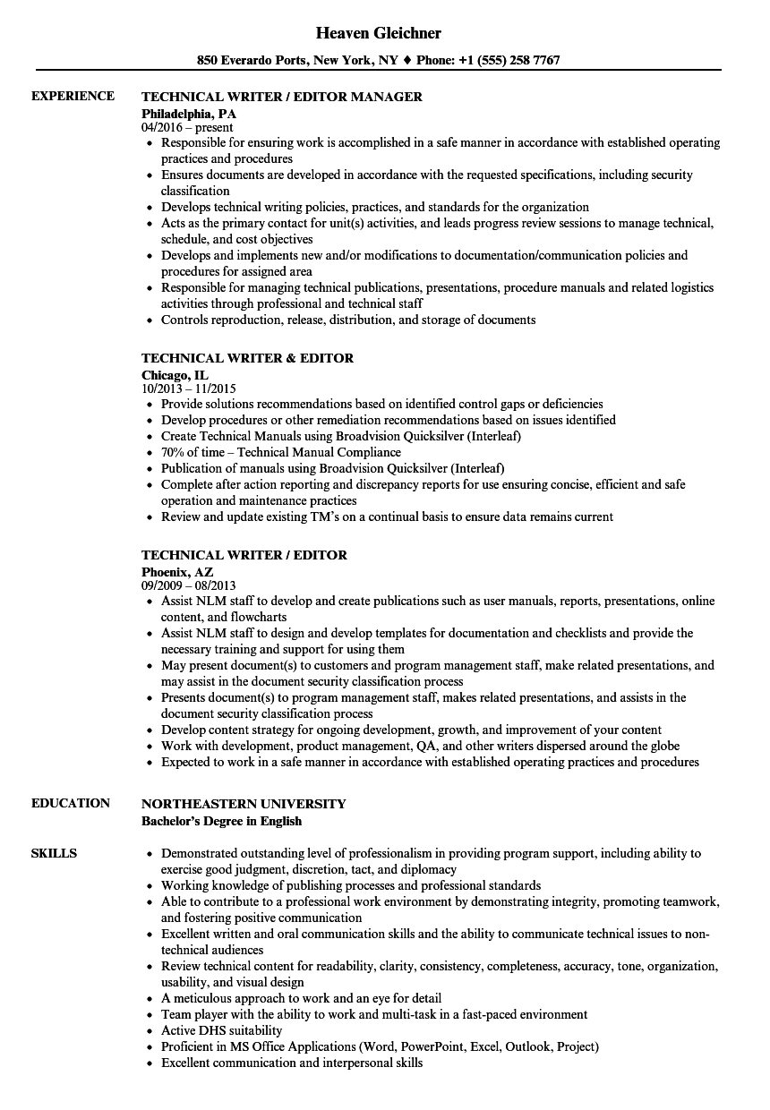 Technical Resume Writer
