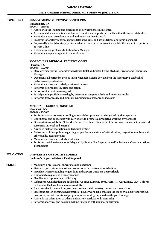 Mri Technician Resume Examples ] | Radiology Technician Resume ...