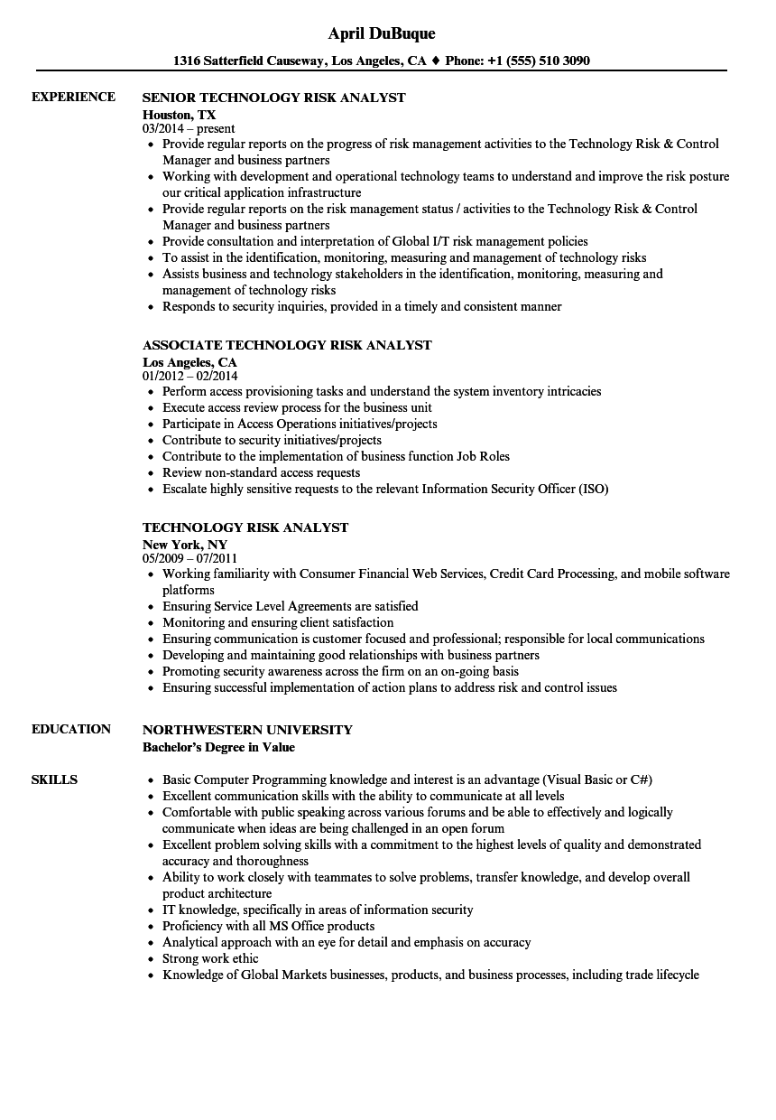 Business Continuity Analyst Resume Example ] | Sales Resumes ...