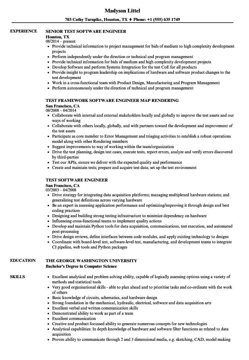 Software Firmware Engineer Resume Sample ] | Resume Style Examples ...