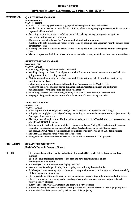 data migration testing resume sample