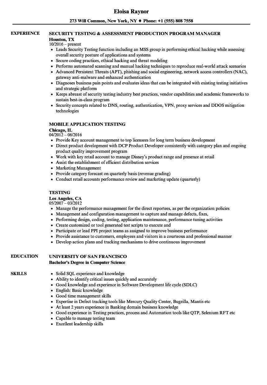 guidewire sample resume