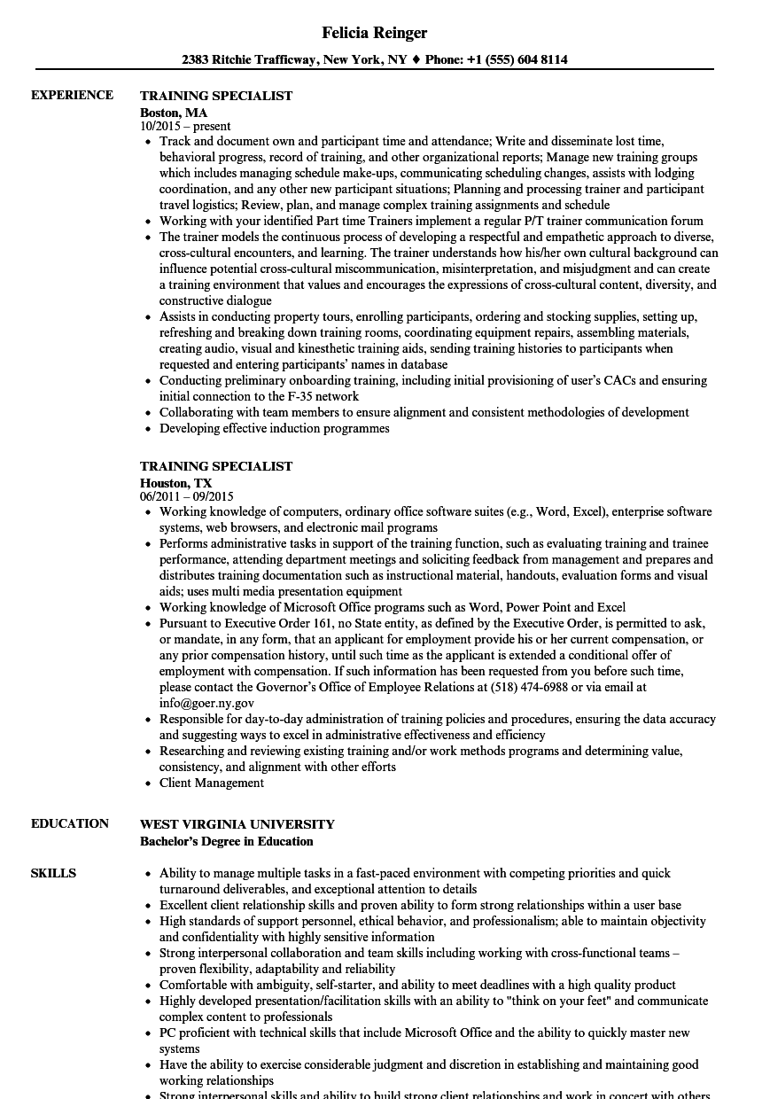 technical specialist resume