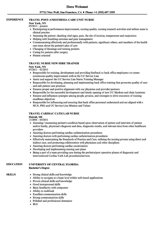 sample resume for nurse liaison
