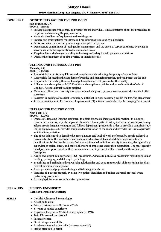 registered medical technologist resume sample