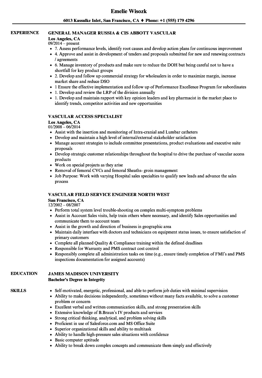 vascular ultrasound resume sample