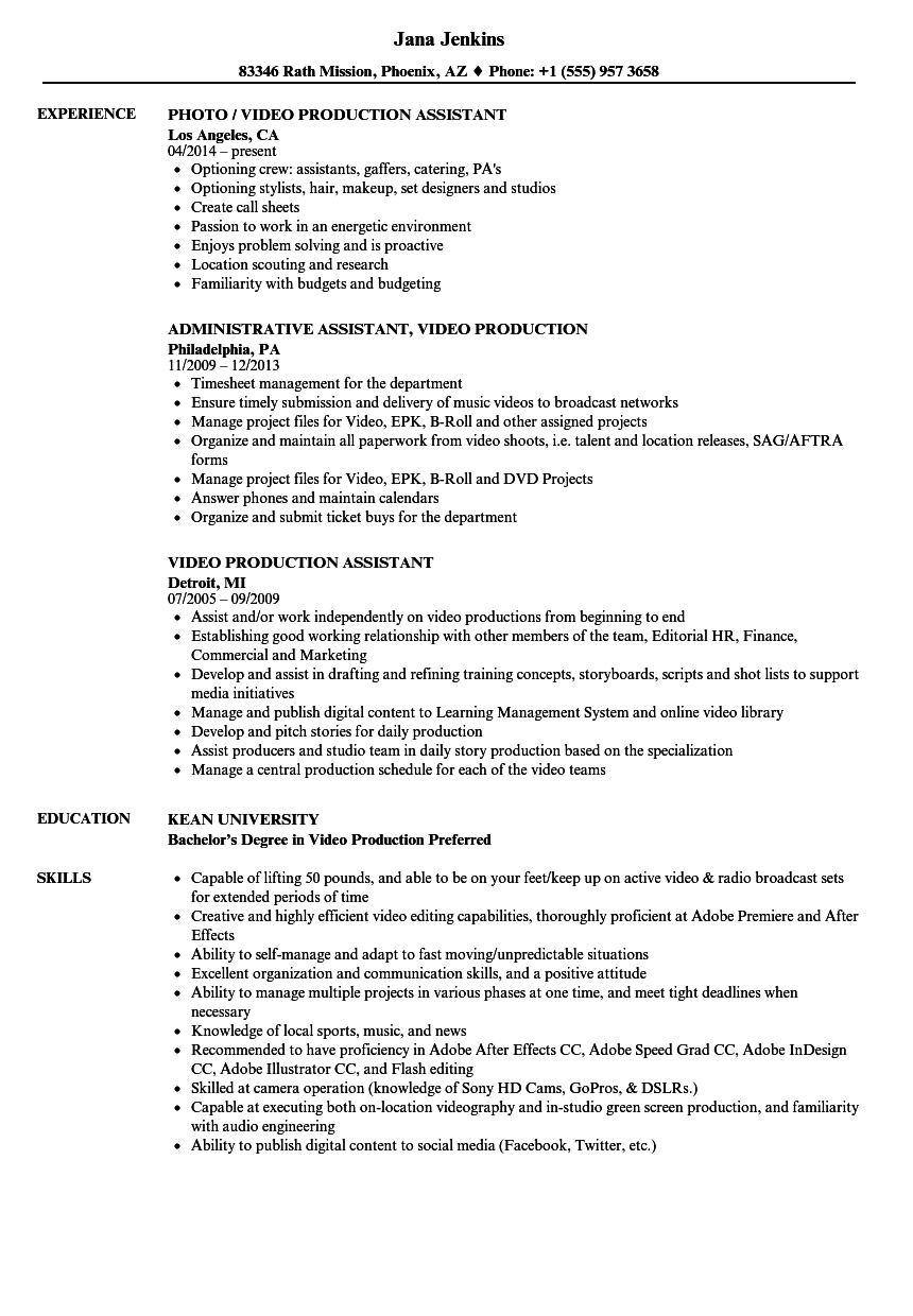 music production resume samples