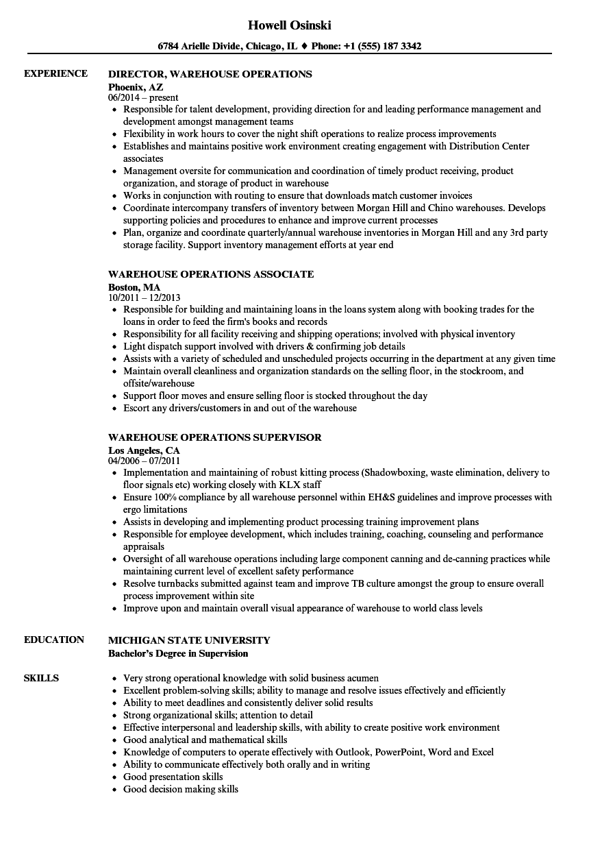 resume for labor job