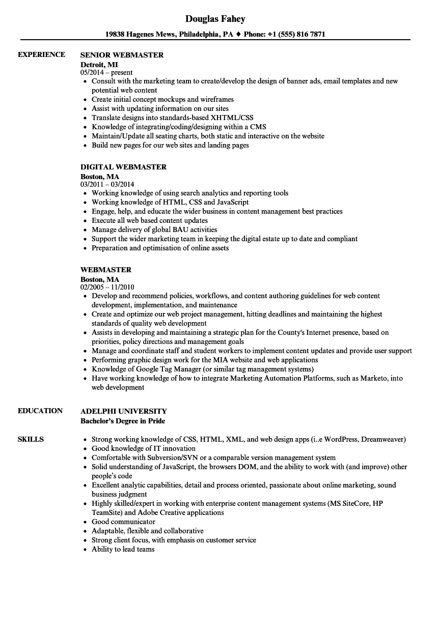 sample resume for jquery
