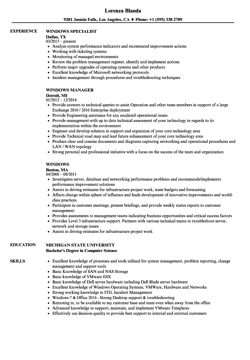 resume with technical skills sample