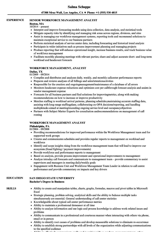 Workforce Management Resume  vvengelbertnl