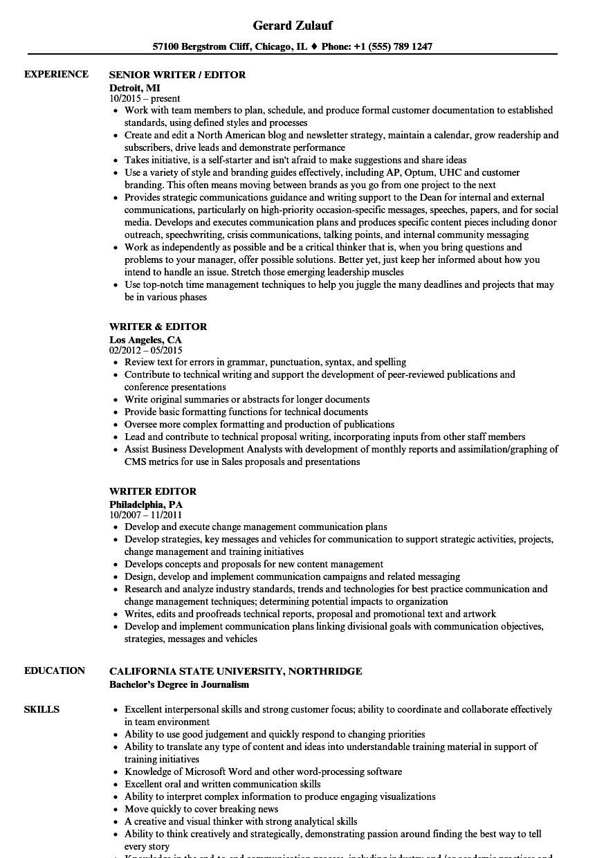 resume writer recommendations