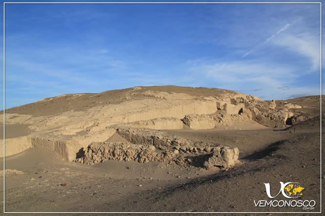 Cauhachi e uma pirâmide encoberta, com a parte aparente em seu estado original