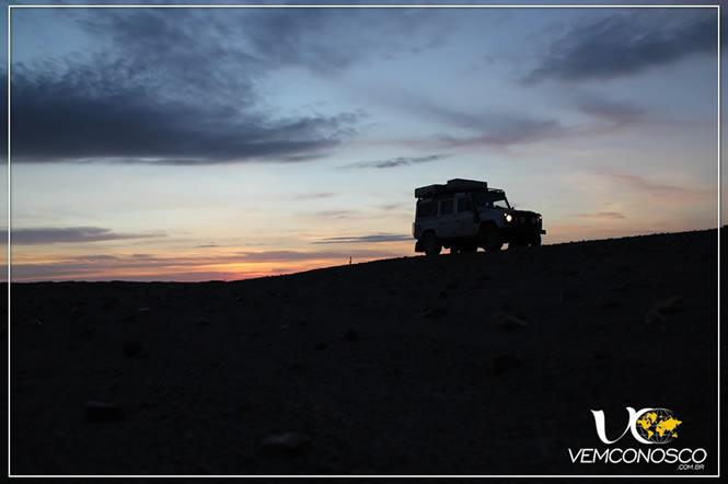 Pôr do sol no caminho de Cauhashi