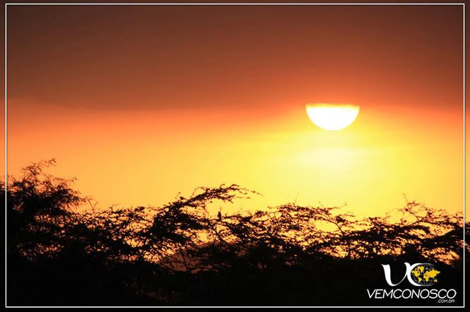 Pôr do sol em Nazca