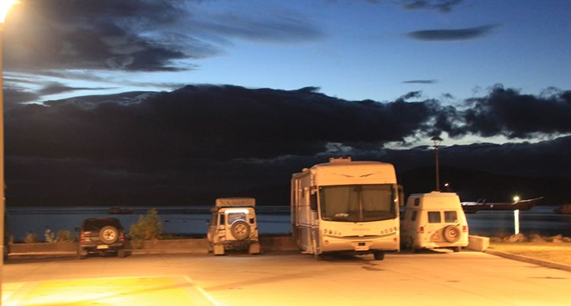 Puerto Natales, Chile. Vizinhos por uma noite, de várias nacionalidades