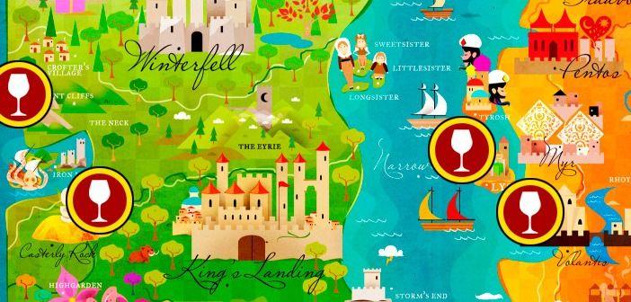 Mapa dos vinhos de Game of Thrones