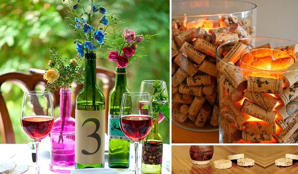 10 ideias para decoração com garrafas de Vinho