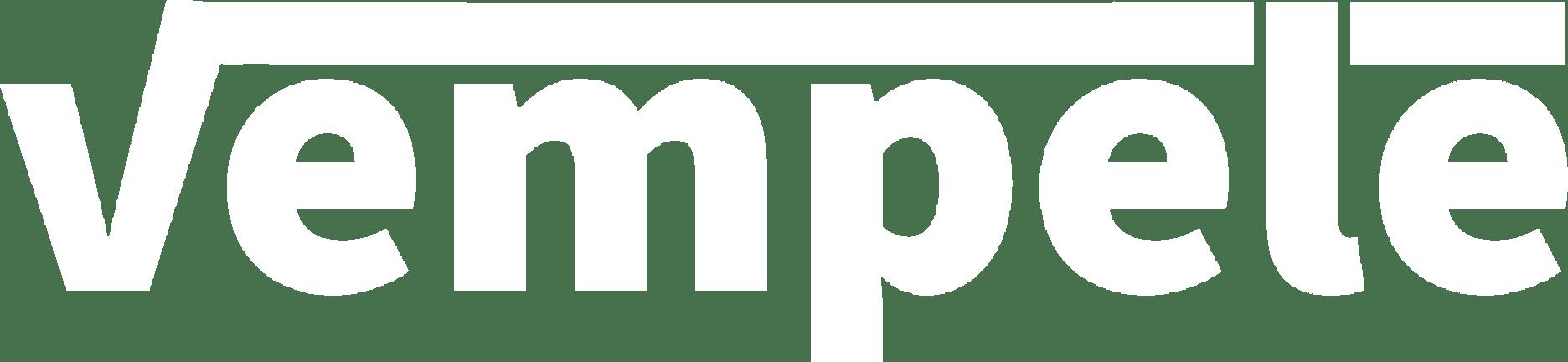 Vempele logo valkoinen
